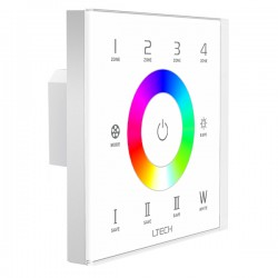 LED Touch Controller DMX/RF RGBW 4 Zones - EX8S